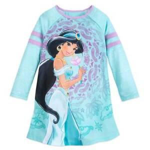NWT Disney Store Jasmine Deluxe Nightgown Costume 4,5//6,7//8,9//10 Girls Aladdin