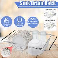 Telescopic Dish Drying Rack Kitchen Organizer Over Dish Drainer Sink Organizer