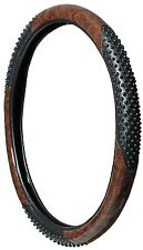 Classy Burl Wood Massage Grip Massager Steering Wheel Cover Tan Wood Very COMFY