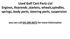 used golf cart Golfcart parts EZGO ClubCar Yamaha Harley Davidson Columbia Par