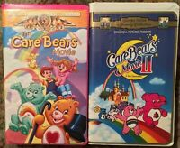 The Care Bears Movie 1 & 2 VHS Clamshell Lot Of 2 MGM Columbia Tristar