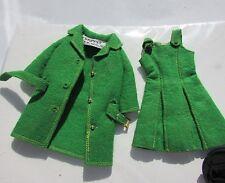 Vintage Skipper Doll Clothing Town Togs #1922 Coat Belt Dress 1965 Barbie Nice