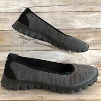 Skechers Flex 6.5M Gray Black Memory Foam Loafers Flats Slip On Comfort Womens