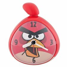 Angry Birds Alarm Clock Red Boys Girls Bedroom Decor Plastic New