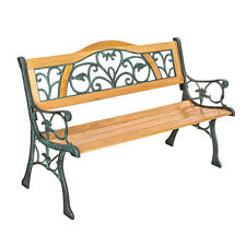 banco de jardn para sentarse muebles madera macizo hierro fundido xxcm