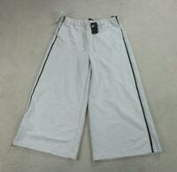 NEW Nike Pants Women 2XL XXL White Black Swoosh Wide Leg Ladies