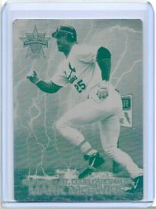 1/1 MARK McGWIRE 2000 PACIFIC VANGUARD PRINTING PLATE ST LOUIS CARDINALS 1 OF 1