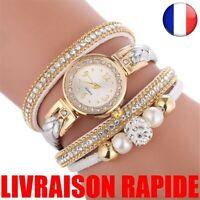Montre Femme Ronde Analogique Quartz Bracelet Cadeau Haute Qualité Bijoux Mode