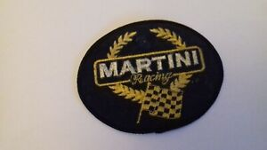 Martini Racing Oval shaped Sew on Patch Badge Retro Collector Item