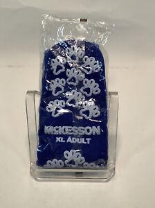 McKesson Terries Slipper Socks Single Imprint Blue Sealed