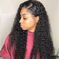 Brazilian Water Wave Human Hair Weaves 1/3Bundles Wet and Wavy Curly Human Hair