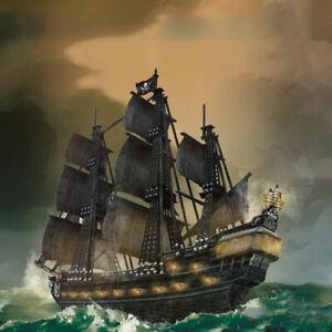 Pirate Ship 3D Puzzles Adults DIY Sailboat Model Building Kit Toy Decor Xmas Gif
