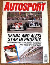 Autosport 15/3/90* US GP PHOENIX - WRC PORTUGAL - ALLIOTT POSTER - JAN LAMMERS