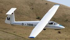 SZD-30 C Pirat Multi-Purpose Glider Aircraft Mahogany Wood Model Replica Small
