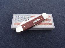 CASE XX * SFO 2002 RED CURLY OAK CANOE KNIFE KNIVES