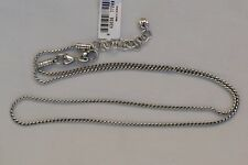 "New Authentic Brighton ABC Add Charm Silver 28"" Long Necklace"
