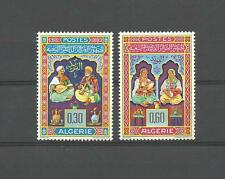2 TIMBRES ALGERIE NEUF** N° 411/412.. ENLUMINURES MUSICIENS / MUSICENNES