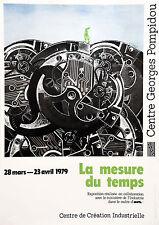 """Exposition """"La mesure du temps"""" affiche Centre Georges Pompidou, 1979"""