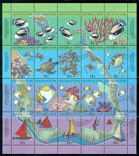 COCOS ISLANDS 289-92 SG296a Used 1994 AustaliaPost Transfer sheet Cat$15