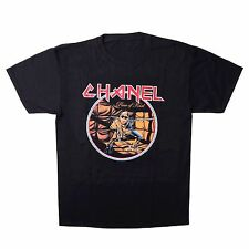 iron maiden chanel vintage style concert tee lager karl t shirt rare parody