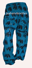 INDIAN BAGGY GYPSY HAREM PANT YOGA MEN WOMEN 100% COTTON ELEPHANT PRINT TROUSER