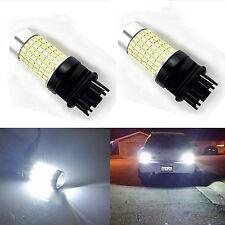 2X 144SMD 3156  P27W White Turning/Brake Super Bright LED Backup Reverse Light
