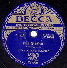 "GREAT KEN COLYER JAZZMEN 78 "" ISLE OF CAPRI / GOIN' HOME "" UK  DECCA F 10241 EX-"