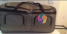 "30"" Designer Style Print Rolling Duffle Bag W/ Expandable Handle & Roller Wheels"