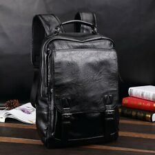Men's Leather Backpack Shoulder Bag Weekender Travel Laptop Notebook School Bags
