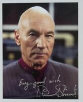 Patrick Stewart Star Trek TNG Autograph 8x10 Original Photo Picard Hand Signed