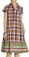 Suno Madres Plaid Pintuck Shift Dress Women's $595 Sz 0