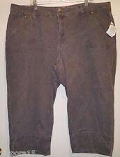 Only Necessities NWT Woman's Plus Blackish Gray Jean Capris Size 24W