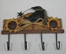 Crow Wall Hook Coynes Folk Creek Ceramic & Wood FC1017 New in Box