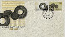 Australia 2014 FDC Holey Dollar & Dump 2v Set Cover Coins