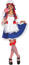 SECRET WISHES RAG DOLL RAGGEDY ANN ADULT HALLOWEEN COSTUME WOMEN'S SIZE SMALL