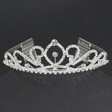 elegantes Diadem Tiara Haarschmuck Krone Krönchen Haarreif Strass  Brautschmuck