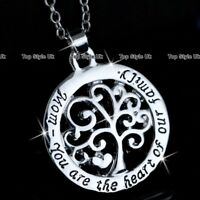 XMAS GIFTS FOR HER Mother Jewellery Gradma Necklace Silver Love Mom Mum Aunt E9