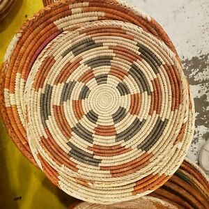 """Southwest Native American Indian Tight Weave Basket Multicolored 9"""" Colored NEW"""