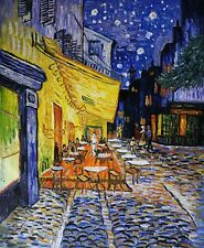 Café Terrace at Night Oil Painting Reproduction Rolled Linen Canvas by Van Gogh