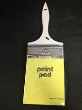 "Paint Brush Notepad Novelty Gift for Painters White Brush 4"" x 4"" Cards NOS"