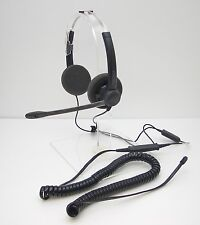 Plantronics SP12-QD Binaural Headset for Avaya Mitel Hybrex Toshiba Ascom Phone