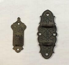 Antique Victorian Lamp Wall Brackets TWO (2) Decorative Cast Iron