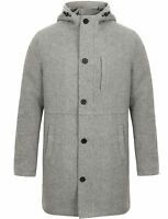 Tokyo Laundry Romano Wool Blend Winter Duffle Coat with Hood Size S M L XL XXL