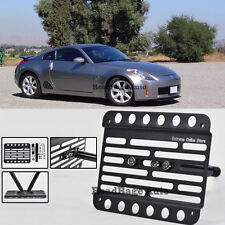 For 03-05 Nissan 350Z Front Tow Hook License Plate Mount Relocator Bracket