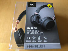 NEW KITSOUND HARLEM WIRELESS BLUETOOTH OVER EAR HEADPHONES WITH MICROPHONE