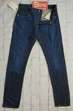 Levis Made & Crafted Dark Blue Pre-Shrunk Tapered Slim Jeans Zip W36 L33 £180