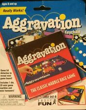 RARE AGGRAVATION Game Keychain Keyring Miniature Board Retired NEW Basic Fun