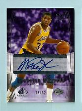Magic Johnson 2004/05 Sp Game Usado Reforzado Números Firmas Autógrafo Auto / 32