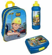 Kindergarten Rucksack Set 3tlg mit Dose Flasche Bob der Baumeister Kinder Tasche