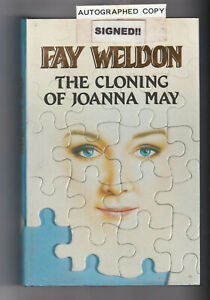 FAY WELDON THE CLONING OF JOANNA MAY SIGNED! + THE SHRAPNEL ACADEMY 2 x Hc BOOKS